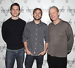 Tom Lipinski, Michael Stahl-David & Mark Blum.attending the Meet & Greet the cast & creatives for the Off-Broadway World Premiere of 'PICKED' at the Vineyard Theatre in New York City.