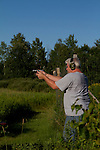 Man shooting a Ruger .40 S&W