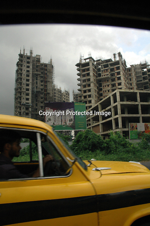 A new building under construction Kolkata, India. Indian is now one of the fastest growing economy in th world. Arindam Mukherjee
