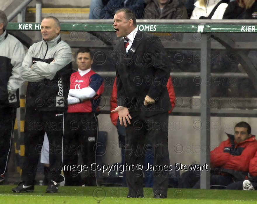 24/11/2007      Copyright Pic: James Stewart.File Name : sct_jspa24_falkirk_v_rangers.FALKIRK MANAGER JOHN HUGHES....James Stewart Photo Agency 19 Carronlea Drive, Falkirk. FK2 8DN      Vat Reg No. 607 6932 25.Office     : +44 (0)1324 570906     .Mobile   : +44 (0)7721 416997.Fax         : +44 (0)1324 570906.E-mail  :  jim@jspa.co.uk.If you require further information then contact Jim Stewart on any of the numbers above.........