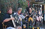 Priddy Horse Fair Somerset Uk 2009. Folklore group performing.