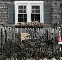 Muted detail of small Cape Cod beach house, Massachusetts, USA