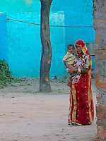Traditional village life in Narhet, Rajasthan, India