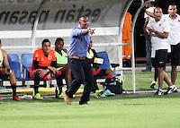 CUCUTA - COLOMBIA - 06 - 09 -2015: Carlos A Quintero, tecnico (E) de Cucuta Deportivo, durante partido entre Cucuta Deportivo y Alianza Petrolera, por la fecha 10 de la Liga Aguila II-2015, jugado en el estadio General Santander de la ciudad de Cucuta.  / Carlos A Quintero, coach (E) of Cucuta during a match between Cucuta Deportivo and Alianza Petrolera, for the date 10 of the Liga Aguila II-2015 at the General Santander Stadium in Cucuta city, Photo: VizzorImage / Manuel Hernandez/ Cont. (Mejor Calidad Disponible / Best Quality Available)