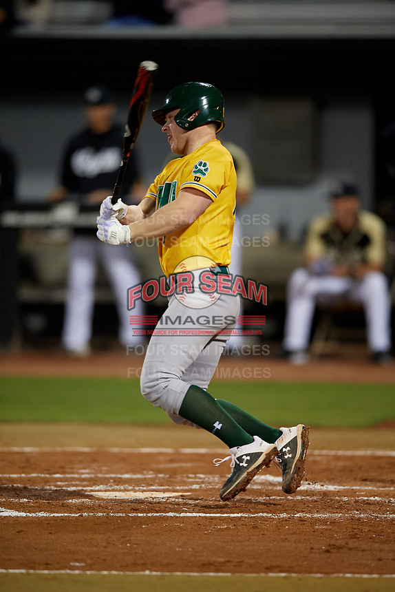 Siena Saints Pat O'Hare (17) bats during a game against the UCF Knights on February 14, 2020 at John Euliano Park in Orlando, Florida.  UCF defeated Siena 2-1.  (Mike Janes/Four Seam Images)