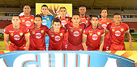 TUNJA- COLOMBIA, 17-02-2018:Formación del Rionegro FC , durante el partido entre el Boyacá Chicó  y Rionegro por la fecha 4 de la Liga Águila II 2018 jugado en el estadio La Independencia. / Team of XXXXX (R) player of Boyaca Chico vies for the ball with XXXXX (L) player of Rionegro during match between Boyaca Chico and Rionegro  for the date 4 of the Aguila League I 2018 played at La Independencia stadium. Photo: VizzorImage/ José Miguel Palencia / Contribuidor