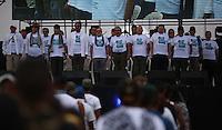 EL DIAMANTE -LLANOS DEL YARI-COLOMBIA , 17-09-2016. Formación de máximos  Comandantes   de las FARC que asisten al  Decima Conferencia de las Farc  . / FARC members attending the Tenth Conference of the FARC  Photo:VizzorImage / Iván Valencia  / Contribuidor