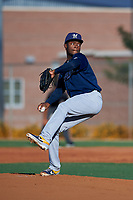 AZL Brewers Blue starting pitcher Alexis Ramirez (37) during an Arizona League game against the AZL Royals at Surprise Stadium on June 18, 2019 in Surprise, Arizona. AZL Royals defeated AZL Brewers Blue 12-7. (Zachary Lucy/Four Seam Images)