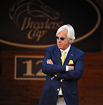 DEL MAR, CA - NOVEMBER 04: Trainer Bob Baffert stands in the paddock before the Breeders' Cup Classic race on Day 2 of the 2017 Breeders' Cup World Championships at Del Mar Racing Club on November 4, 2017 in Del Mar, California. (Photo by Carson Denis/Eclipse Sportswire/Breeders Cup/