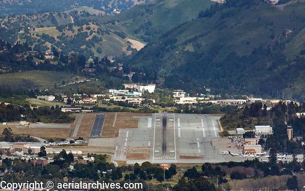 aerial photograph of the Monterey Regional Airport (MRY), Monterey, California