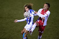 VOETBAL: NIEUWEHORNE: Sportcomplex UDIROS, SC Heerenveen-AJAX, Zoï van de Ven (SC Heerenveen) , Quinty Sabajo (AJAX), uitslag 1-2, ©foto Martin de Jong