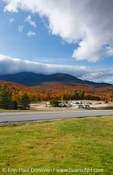 Mount Washington Valley - Pinkham Notch in Green's Grant, New Hampshire during the autumn months. The scenery in the Mount Washington Valley is spectacular during the autumn foliage season.