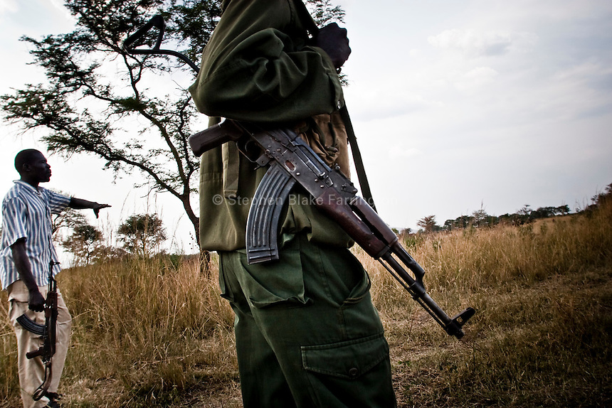 Africa, Sudan, Magwi County, Mugale, Caught In Between, Northern Uganda/Southern Sudan - A Sudanese People's Liberation Army soldiers. December 2005 © Stephen Blake Farrington