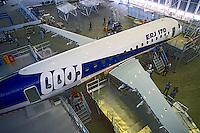 Produçao de avioes na industria Embraer. São José dos Campos. São Paulo. 2001. Foto de Juca Martins.