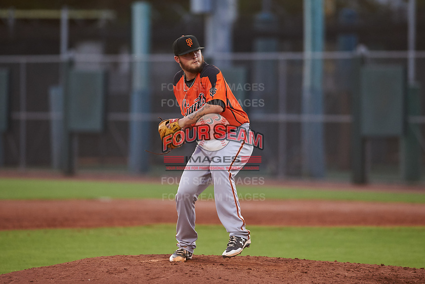 AZL Giants Orange relief pitcher Jake Greenwalt (53) during an Arizona League game against the AZL Giants Black on July 19, 2019 at the Giants Baseball Complex in Scottsdale, Arizona. The AZL Giants Black defeated the AZL Giants Orange 8-5. (Zachary Lucy/Four Seam Images)
