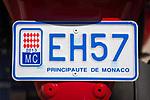 Fuerstentum Monaco, an der Côte d'Azur: Kfz-Kennzeichen | Principality of Monaco, on the French Riviera (Côte d'Azur): licence plate number