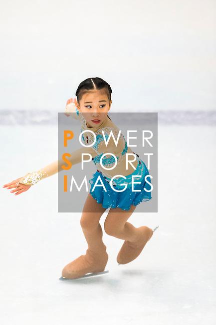 Chloe Desiree Leung of Hong Kong competes during the Asian Junior Figure Skating Challenge Hong Kong 2016 at Kowloon Tong's Festival Walk Glacier on 03 October 2016, in Hong Kong, China. Photo by Marcio Machado / Power Sport Images
