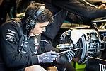 Mercedes-AMG Petronas Motorsport mechanic checks wheel rim during the tests for the new Formula One Grand Prix season at the Circuit de Catalunya in Montmelo, Barcelona. February 19, 2020 (ALTERPHOTOS/Javier Martínez de la Puente)