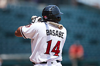 Luis Alexander Basabe (14) of the Richmond Flying Squirrels at bat against the Bowie Baysox at The Diamond on July 28, 2021, in Richmond Virginia. (Brian Westerholt/Four Seam Images)