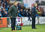 Kilmarnock v St Johnstone...06.12.14   SPFL<br /> Tommy Wright shouts instructuons as Allan Johnston looks on<br /> Picture by Graeme Hart.<br /> Copyright Perthshire Picture Agency<br /> Tel: 01738 623350  Mobile: 07990 594431