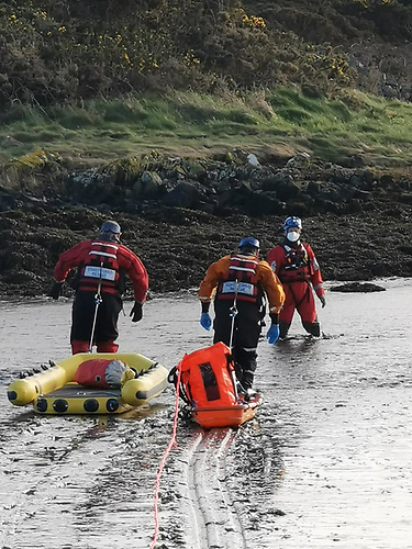 Mud rescue training in Strangford Lough