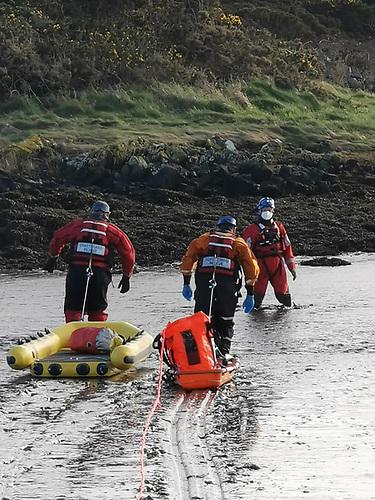 Mud rescue training in Strangford Lough