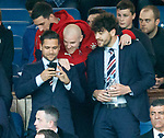 Rangers players in the directors box