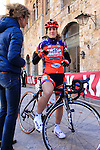 Top Girls Fassa Bortolo team rider at sign on before start the 2015 Strade Bianche Women Elite cycle race 103km over the white gravel roads from San Gimignano to Siena, Tuscany, Italy. 8th March 2015<br /> Photo: Eoin Clarke www.newsfile.ie