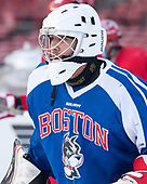 Nico Lynch (BU - 1) - The Boston University Terriers practiced on the rink at Fenway Park on Friday, January 6, 2017.The Boston University Terriers practiced on the rink at Fenway Park on Friday, January 6, 2017.