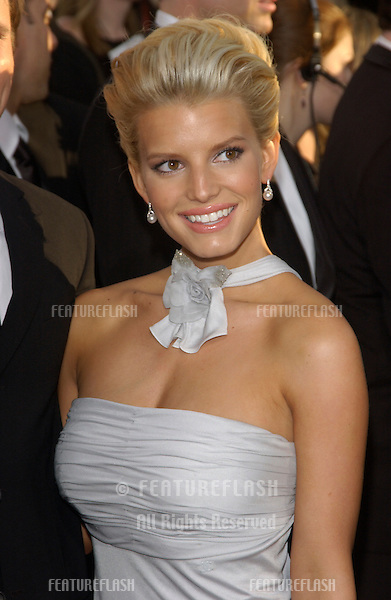 JESSICA SIMPSON at the 61st Annual Golden Globe Awards at the Beverly Hilton Hotel, Beverly Hills, CA..January 25, 2004
