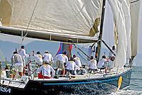 Disputa de regata a vela. Semana de Vela. Ilha Bela. São Paulo. 2007. Foto de Maristela Colucci.