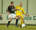 15/03/2005         Copyright Pic : James Stewart.File Name : jspa10_falkirk_v_clyde.JOHN O'NEILL AND ALEX BURNS CHALLENGE....Payments to :.James Stewart Photo Agency 19 Carronlea Drive, Falkirk. FK2 8DN      Vat Reg No. 607 6932 25.Office     : +44 (0)1324 570906     .Mobile   : +44 (0)7721 416997.Fax         : +44 (0)1324 570906.E-mail  :  jim@jspa.co.uk.If you require further information then contact Jim Stewart on any of the numbers above.........A