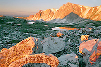 Snowy Range from Medicine Bow Peak<br /> Medicine Bow Mountains<br /> Medicine Bow National Forest<br /> Rocky Mountains,  Wyoming