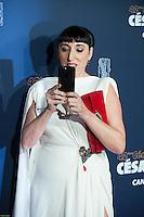 Rossy de Palma ‡ la 42e CÈrÈmonie des CÈsars ‡ l'arrivÈe sur le tapis rouge de la salle Pleyel ‡ Paris le 24 fÈvrier 2017