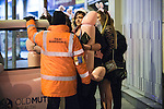 """© Joel Goodman - 07973 332324 . Manchester , UK . 05/04/2015 . Women queue to board a taxi opposite """" The Printworks """" in Manchester City Centre . Revellers on a Saturday night out during the Easter Bank Holiday weekend . Photo credit : Joel Goodman"""