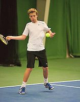 01-12-13,Netherlands, Almere,  National Tennis Center, Tennis, Winter Youth Circuit,   Julian Prins<br /> Photo: Henk Koster
