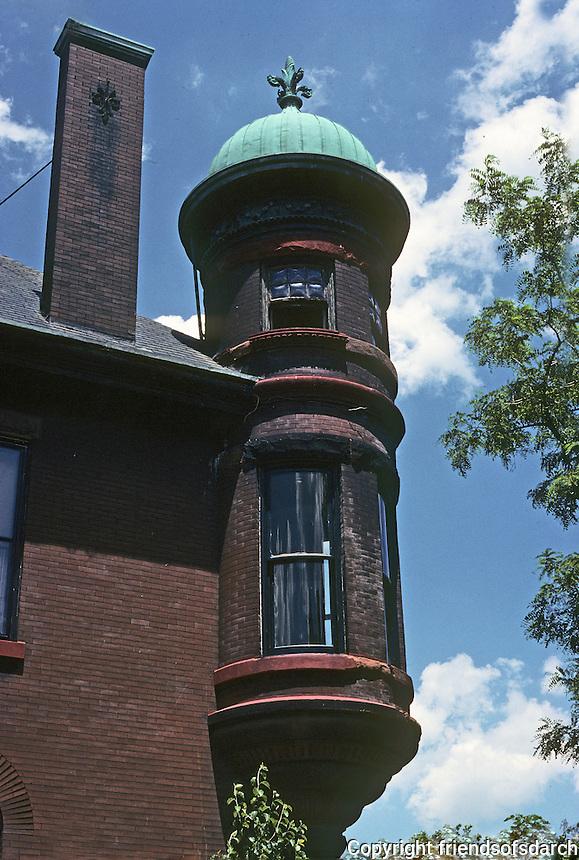 St. Louis: Missouri Avenue. Romanesque House, detail. Photo '78.