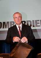 June 7 2005, Montreal (Qc) CANADA<br /> Laurent Beaudoin, Chairman of the Board and Chief Executive Officer<br /> Bombardier Inc. at Bombardier Annual Meeting in Montreal, June 7 2005<br /> <br /> Born in 1938, he has been with Bombardier since 1963<br /> <br /> Photo : (c) IMAGES DISTRIBUTION
