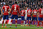 Real Madrid´s Cristiano Ronaldo prepares for a free kick during 2015/16 La Liga match between Real Madrid and Atletico de Madrid at Santiago Bernabeu stadium in Madrid, Spain. February 27, 2016. (ALTERPHOTOS/Victor Blanco)