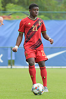 Belgian Bryan Limbombe (21) pictured during a friendly soccer game between the national teams Under19 Youth teams of Belgium and Germany on tuesday 8 th of September 2020  in Genk , Belgium . PHOTO SPORTPIX.BE | SPP | DIRK VUYLSTEKE
