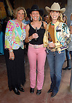 Michelle Airola, Lynn Davis and Denise Darnell at the Cattle Baron's Ball at the George Ranch Saturday April 28,2007.(Dave Rossman/For the Chronicle)