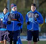Rangers defenders Marius Zaliukas and Sebastien Faure