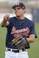 19 April 2005: Outfielder Jeff Francoeur of the Mississippi Braves, Class AA affiliate of the Atlanta Braves, taken at Trustmark Park in Pearl, Miss.  (Tom Priddy/Four Seam Images)