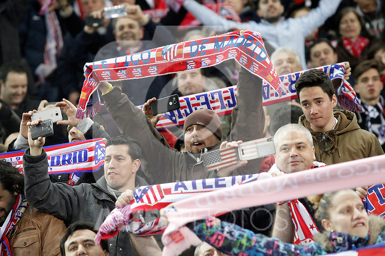 Atletico de Madrid's supporters during UEFA Champions League match. March 15,2016. (ALTERPHOTOS/Acero)