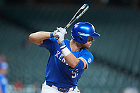 Ben Aklinski (52) of the Kentucky Wildcats at bat against the Louisiana Ragin' Cajuns in game seven of the 2018 Shriners Hospitals for Children College Classic at Minute Maid Park on March 4, 2018 in Houston, Texas.  The Wildcats defeated the Ragin' Cajuns 10-4. (Brian Westerholt/Four Seam Images)
