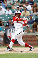 Infielder Jesmuel Valentin #19 during the Under Armour All-American Game at Wrigley Field on August 13, 2011 in Chicago, Illinois.  (Mike Janes/Four Seam Images)