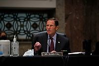 United States Senator Richard Blumenthal (Democrat of Connecticut)l, speaks during a US Senate Judiciary Committee business meeting to consider authorization for subpoenas relating to the Crossfire Hurricane investigation, and other matters on Capitol Hill in Washington, Thursday, June 11, 2020. <br /> Credit: Carolyn Kaster / Pool via CNP/AdMedia