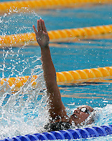 France's Alexianne Castel competes in a Women's 200m Backstroke semifinal at the Swimming World Championships in Rome, 31 July 2009..UPDATE IMAGES PRESS/Riccardo De Luca