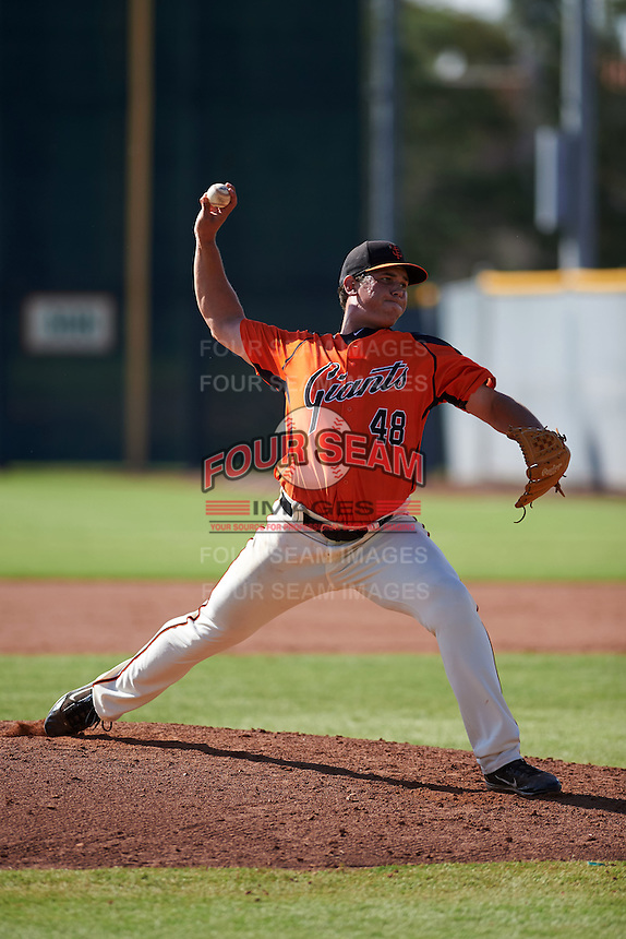 San Francisco Giants pitcher David Graybill (48) during an instructional league game against the Oakland Athletics on October 12, 2015 at the Giants Baseball Complex in Scottsdale, Arizona.  (Mike Janes/Four Seam Images)
