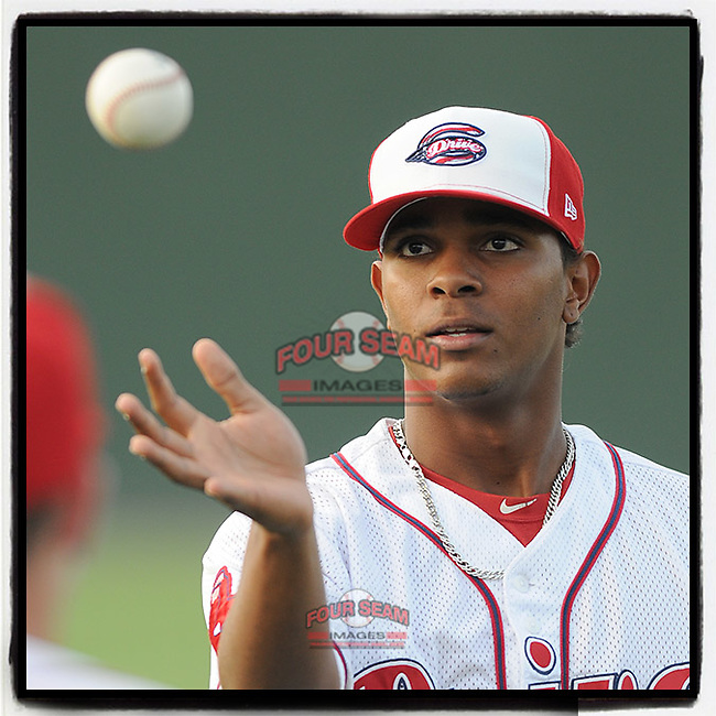 #OTD On This Day, July 1, 2011, Xander Bogaerts of the Greenville Drive played shortstop in a game against the Hickory Crawdads at Fluor Field at the West End in Greenville, S.C. He has played for Boston for the past seven years. (Tom Priddy/Four Seam Images) #MiLB #OnThisDay #MissingBaseball #nobaseball #stayathome #minorleagues #minorleaguebaseball #Baseball #SallyLeague #AloneTogether